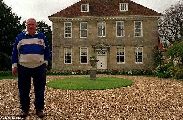 Sir Edward Heath outside his home in Salisbury in Wiltshire in 1992, just one mile from where Forde operated a brothel