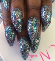 bubble nails craze sees women pile