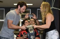 Ronda Rousey gives UFC championship belt to Brazilian judo ...