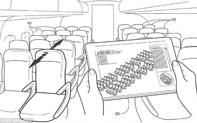 'Legroom adjustable' plane seat adjusts to height of each