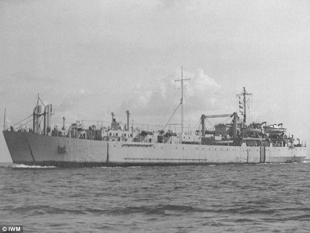 Trial-run: Scientists investigated the bubonic plague as a biological weapon, aboard the HMS Ben Lomond (pictured) in the Outer Hebrides in 1952, as part of Operation Cauldron