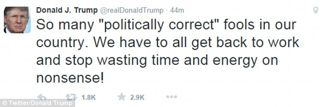In a tweet on Saturday morning, the Republican frontrunner hit back with the tweet: 'So many