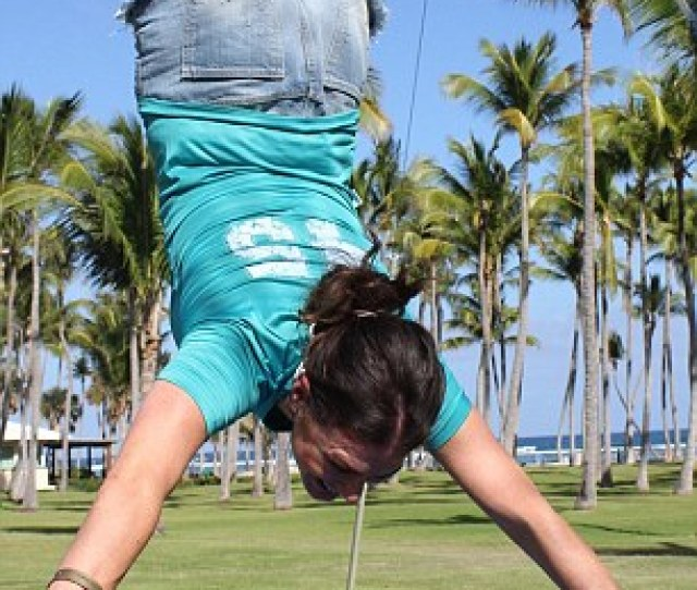 High Jinks Katie Got To Try A Trapeze At The Club Med Punta Cana