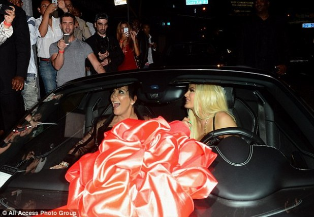 Shotgun! Showbiz momager Kris Jenner was thrilled to have the first spin in the car