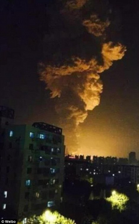 Residents in nearby districts were quoted as saying the blast had shattered windows