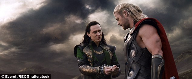 Supervillain: Hiddleston is known for many roles, including starring alongside Chris Hemsworth as Loki in Thor