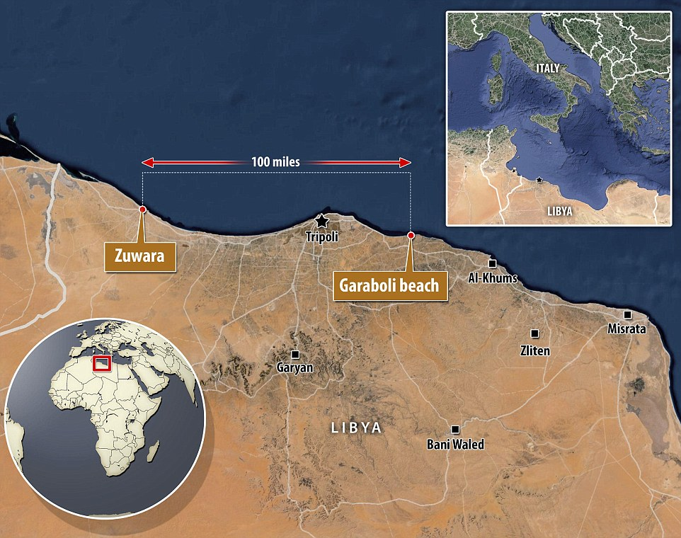 Libya: Bodies are washing up on a 100-mile stretch of the west  of the war-torn country from Garaboli to Zuwara, near the Tunisian border