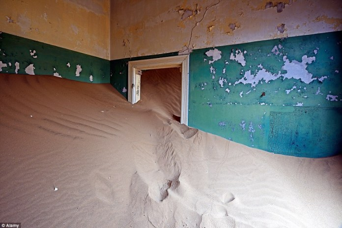 Almost 100 years after Kolmanskop peaked as a thriving and bustling oasis, it is now a dilapidated ghost town being reclaimed by the sand