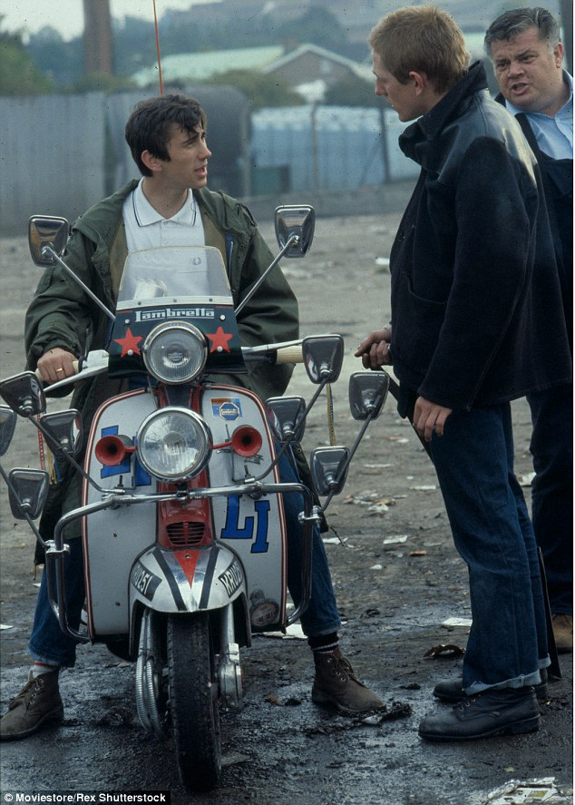 Our generation: Promoting the Our Generation album in London, on Thursday, the 56-year-old and the iconic Lambretta scooter he rode throughout the film were pictured together for the first time since 1979