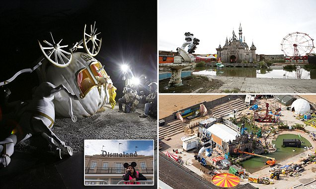 Banskys Dismaland Park Has Cinderella Crash Sculpture