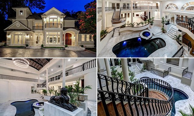Inside the 29m Atlanta party mansion complete with an