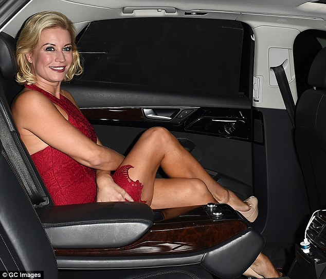 Denise Van Outen Is A Knockout In A Red Minidress As She