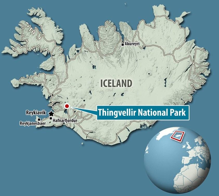 Split decisione: La frattura può essere trovato nel parco nazionale di Thingvellir, che è una popolare destinazione turistica