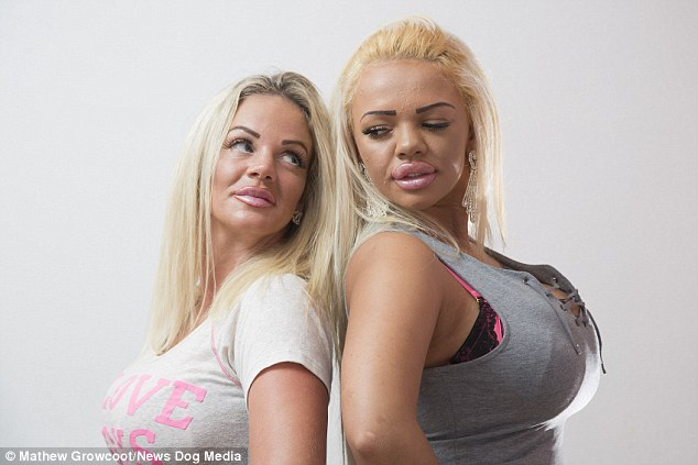 Surgery: Mother and daughter Georgina Clarke and Kayla Morris have spent £56,000 on surgery