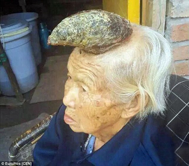 Image result for woman grows horns