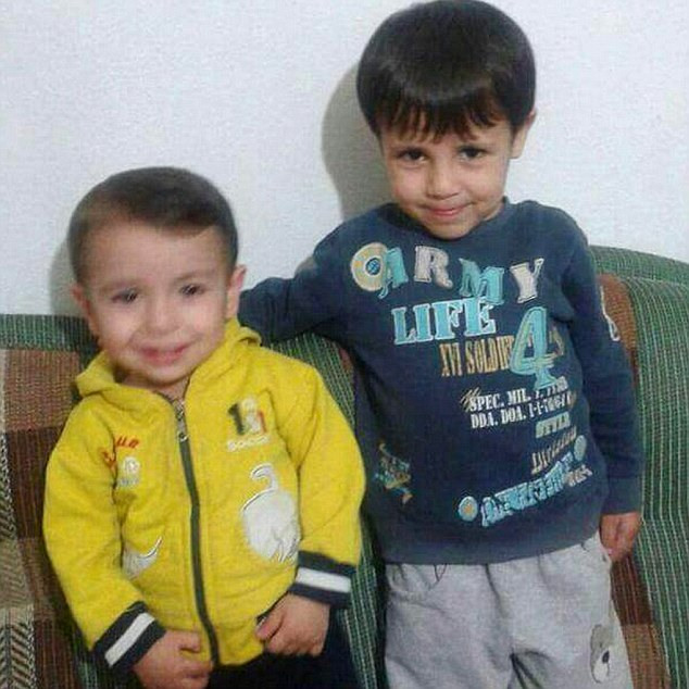 Smiles: Galip and Aylan Kurdi (pictured) hail from the Syrian city of Kobane. According to relatives, their father now wants to return their to bury the two boys and their mother