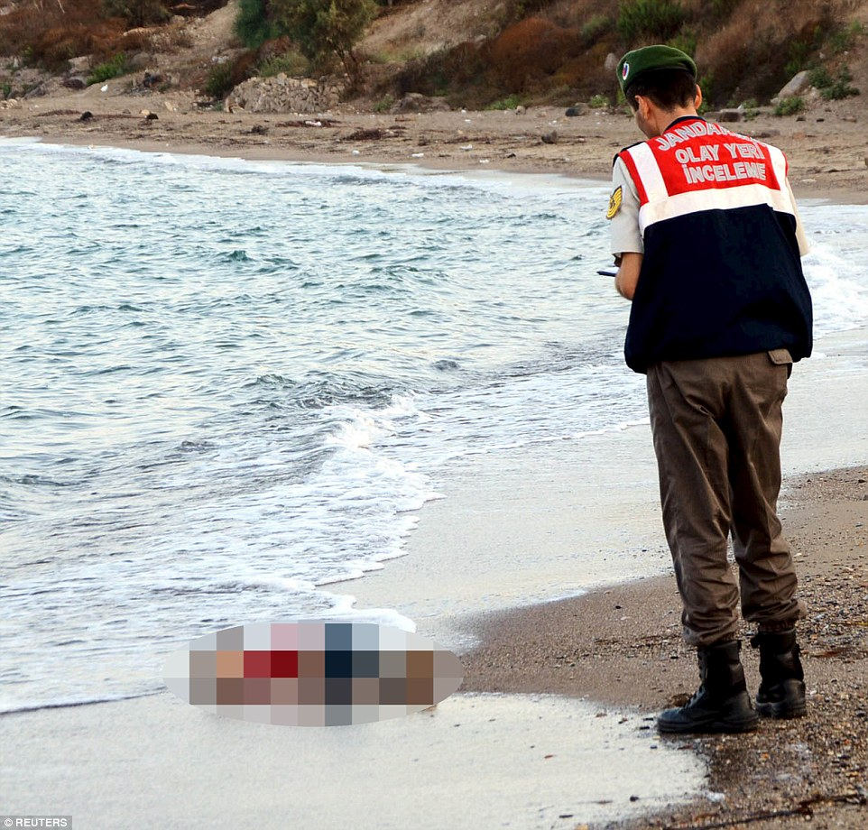 Harrowing: The young boy, named as Aylan Kurdi, is just one of almost 3,000 migrants who have already died this year in the Mediterranean