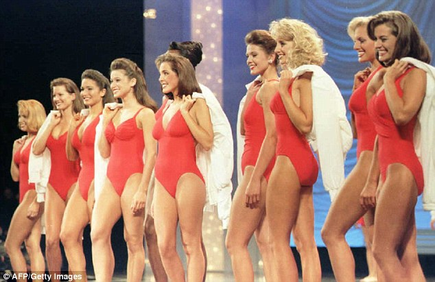 Just not in slo-mo: Perhaps inspired by Baywatch, in 1995 the contestants all wore read one-pieces