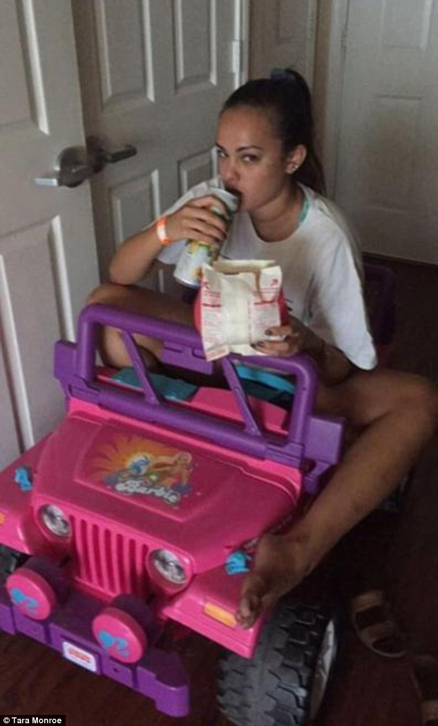 Tara Monroe Drives Around Campus In BARBIE Jeep After DWI