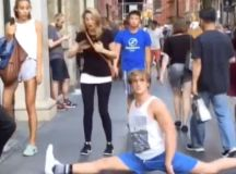 Logan Paul films himself dropping into the splits in ...