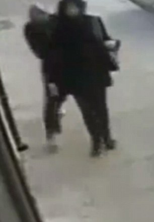 Vicious: CCTV footage shows Michael Ayoade, 34, following teenager Tasneem Kabir