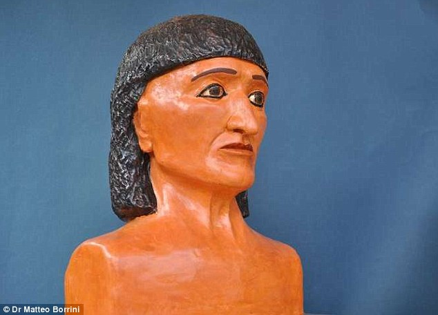 Finally revealed: Experts have reconstructed the face of an ancient Egyptian priest using forensic techniques