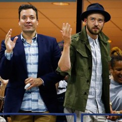 Chair Exercise Justin Timberlake Portable Fishing Us Open Sees And Jimmy Fallon Perform Beyonce S Dancing Fools Left Right Danced During