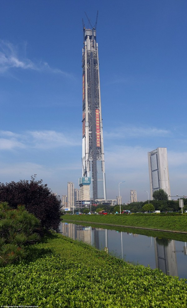 China' 'walking Stick Building' Tallest