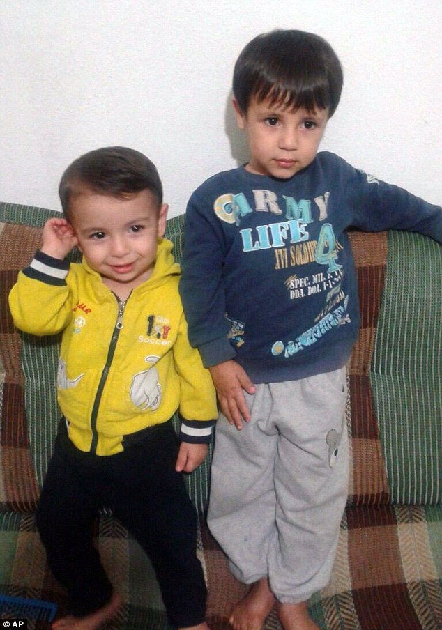 Aylan (left), three, and his brother Galip (right), five, died alongside their mother as they tried to reach Kos