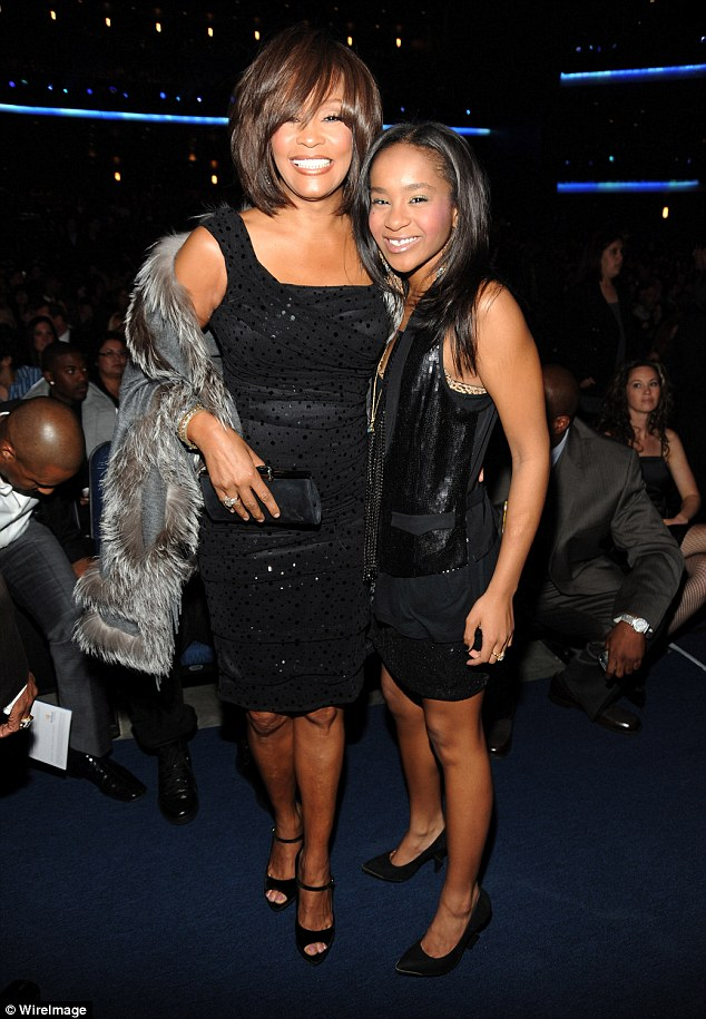 Tragic: Whitney with her daughter Bobbi Kristina in 2009; both are now deceased