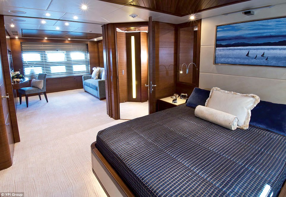 At 46.57 metres (152.8ft), the luxurious superyacht accommodates up to 12 overnight guests in six cabins