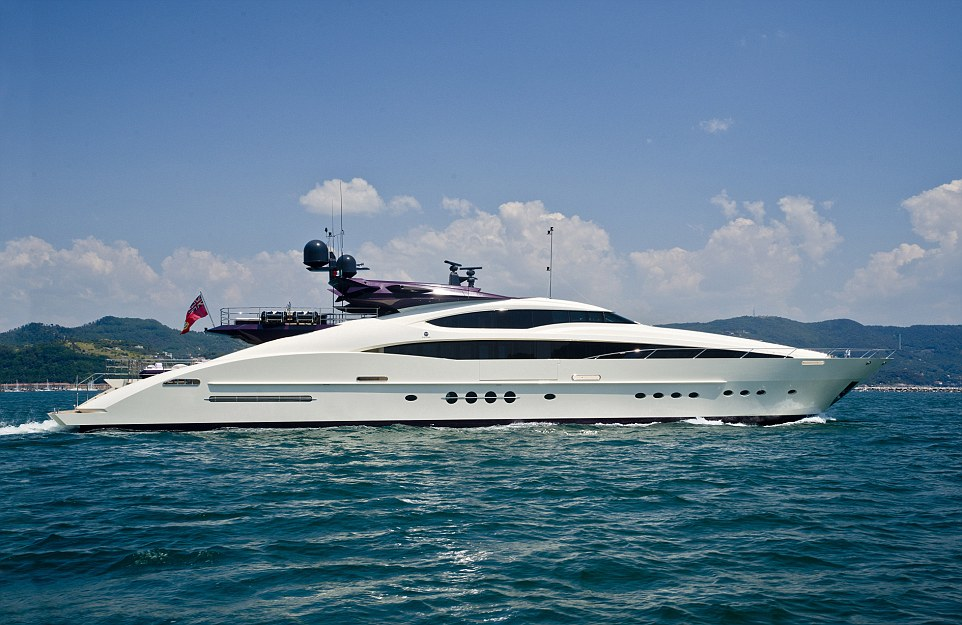 With an asking price of £11.3million ($17.5million), Clifford II is a sport cruiser luxury yacht with a maximum speed of 30 knots (34.5mph)