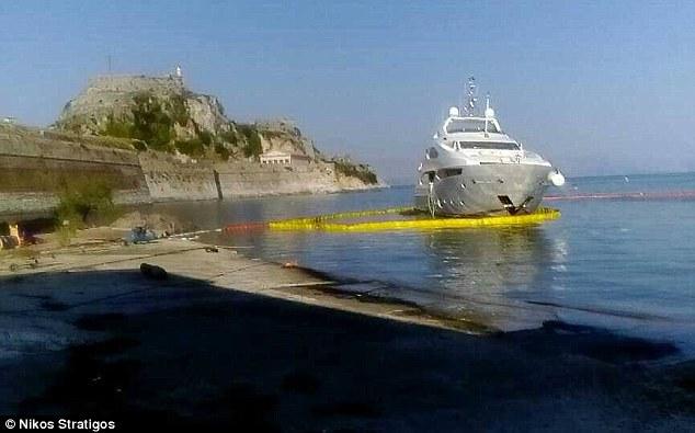 Jelana Superyacht Runs Aground Off Coast Of Corfu In