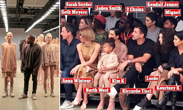 Kanye West unveils New York Fashion Week collection in