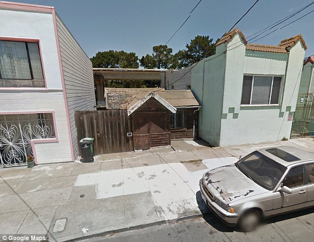 What money can buy: The tiny brown home pictured above is being sold in San Francisco for  $350,000