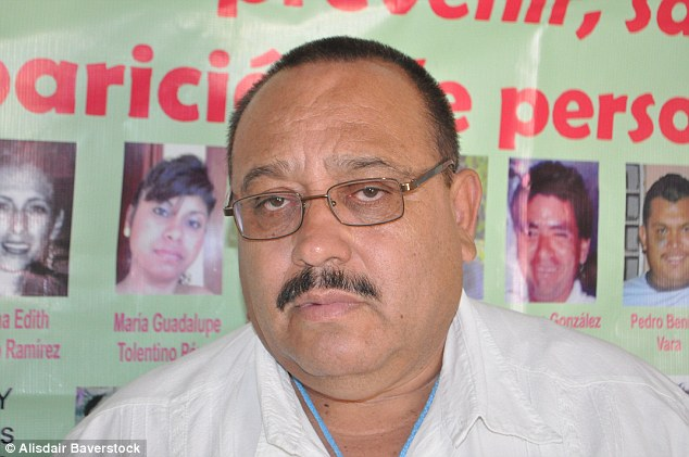 Broken man: Primary school teacher Noé Velasquez (pictured) took out a loan of £12,000  to pay for his daughter's ransom earlier this year
