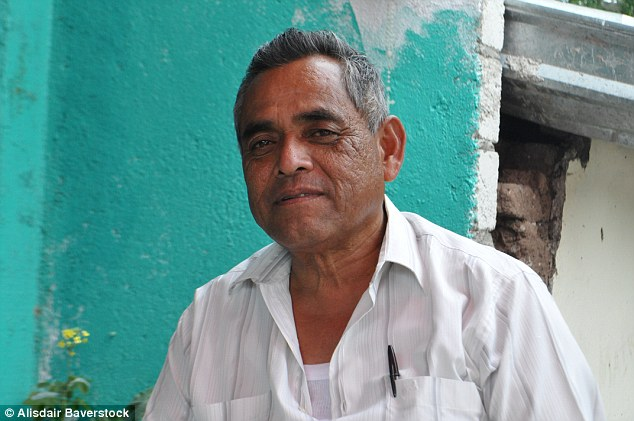 War: 'Here we've got the Rojos, the Pelones, the Templars, New Generation, the Zetas, the Gulf Cartel and Sinaloa all fighting over control of narcotics production', said Ahilin's uncle Pedro Nava (pictured)