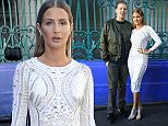 Professor Green and Millie Mackintosh poses for photographers before the Julien Macdonald Spring/Summer 2016 London Fashion Week show at Smithfield Market, London. PRESS ASSOCIATION Photo. Picture date: Saturday September 19, 2015. See PA story CONSUMER Fashion. Photo credit should read: Jonathan Brady/PA Wire
