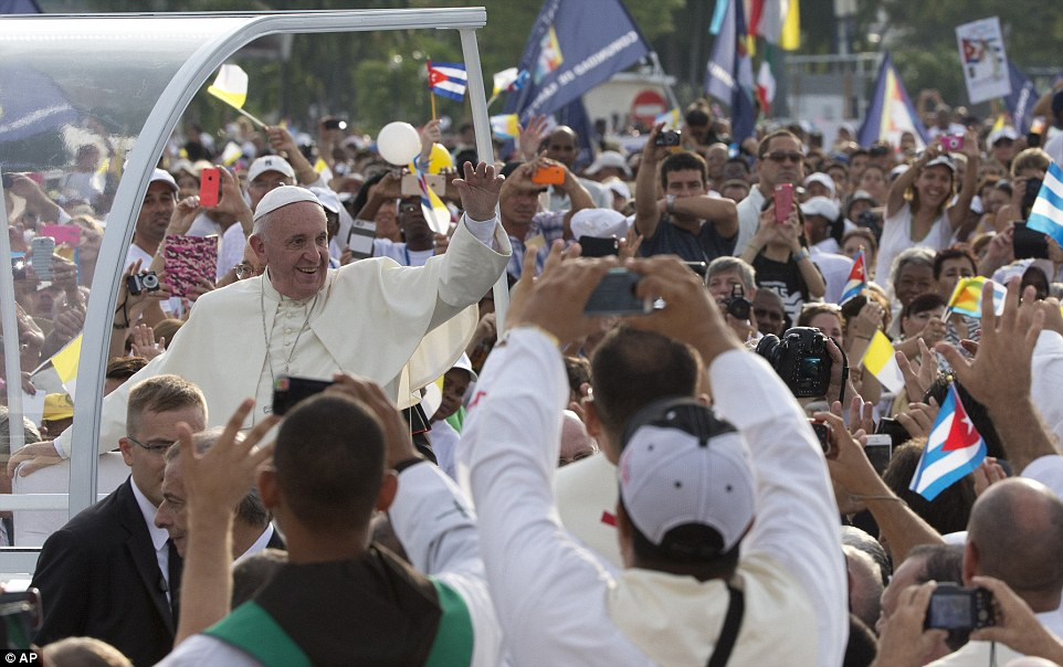 Pope Francis also used his first Sunday Mass in Cuba to call on Colombia to put an end to the bloodshed and stop South America's longest-running conflict