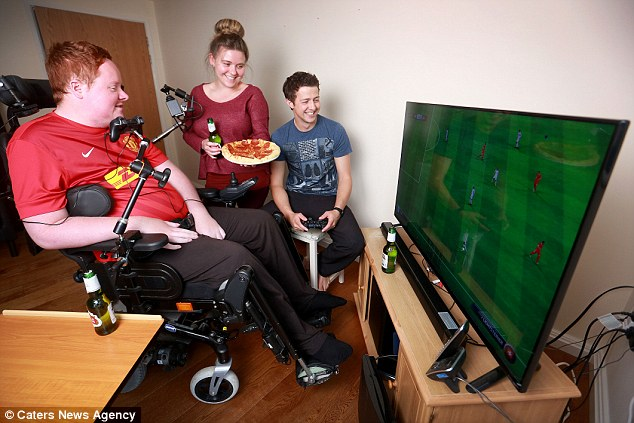 Cumbria man paralysed from neck down can play PlayStation