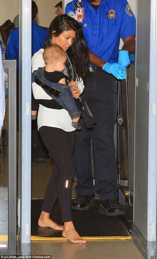 Kourtney Kardashian Struggles Carrying Baby Reign Through
