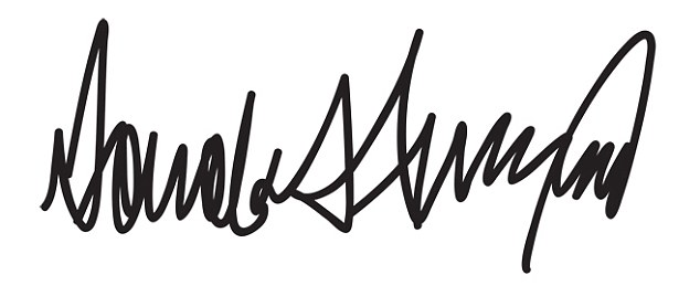 Michelle Dresbold analyzes Donald Trump's signature and