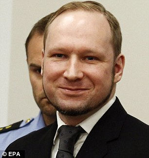 Had likened himself to Norwegian far-right terrorist Anders Breivik (pictured)