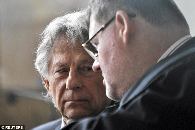 Talks: Polanski, who lives in Paris but also has an apartment in Krakow, listens to his lawyer in court today