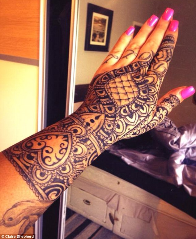 Tattoo On Hand For Girl