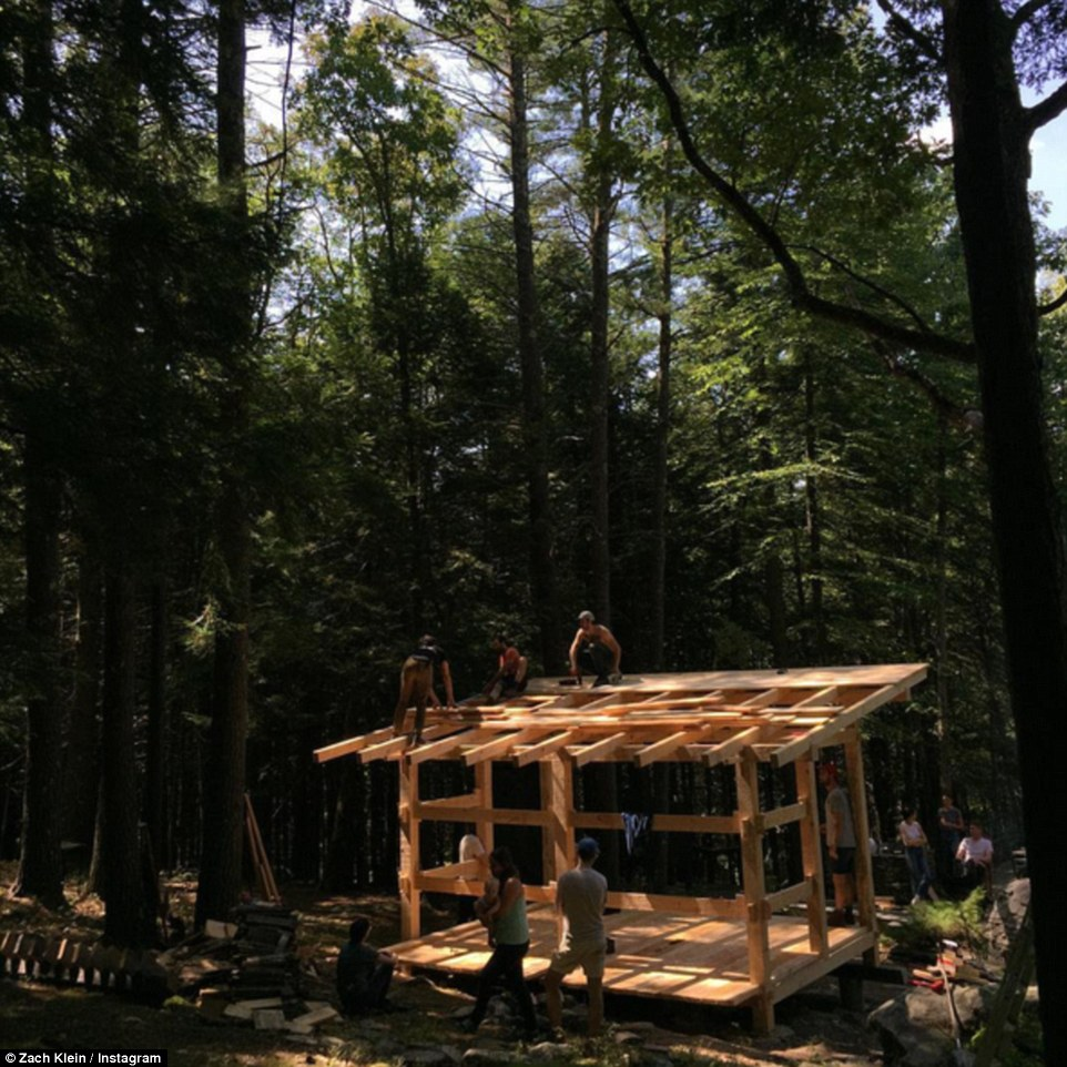 The retreat now runs a yearly carpentry workshop for a handful of students who pay $500-a-week to learn how to build cabins