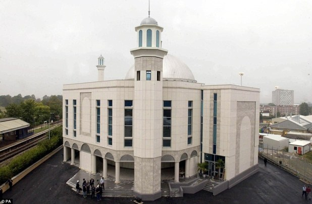 Before: TheBaitul Futuh can be seen here in a file photo from 2003. One man caught up in the blaze is is hospital with smoke inhalation