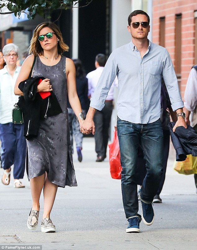 Still loved-up: Sophia Bush confirmed she was still in a relationship with her Chicago P.D. co-star Jesse Lee Soffer when she stepped out in New York City with him on Sunday