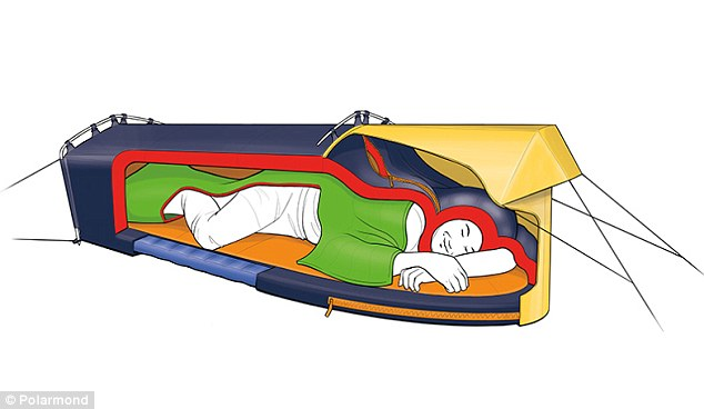 Polarmond tent combines insulated shelter with a sleeping