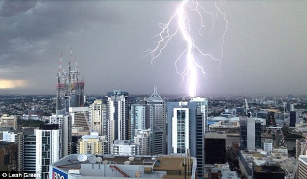 More than 4,500 homes in Brisbane have been left without power after a severe storm hit the Queensland capital just after 2.30 pm on Tuesday